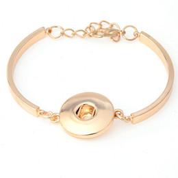 Wholesale Gun Beads - 18K Gold Plated Silver Gun Black Snap button bracelet for women 18-20mm Noosa one chunk bracelet DIY jewelry