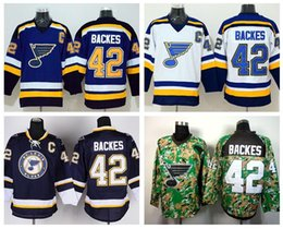 Wholesale multi color fan - David Backes Jersey 42 St. Louis Blues Ice Hockey Jerseys For Sport Fans Team Color Navy Blue White Embroidery And Sewing Logo