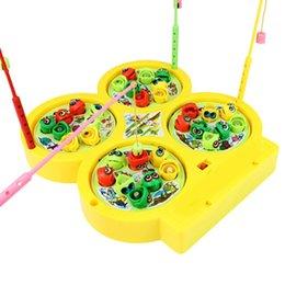 Jouets musicaux en plastique en Ligne-Jouet électronique jouet de pêche magnétique de pêche Jeu musical en plastique de poisson Jeux de société parent-enfant jouet éducatif interactif