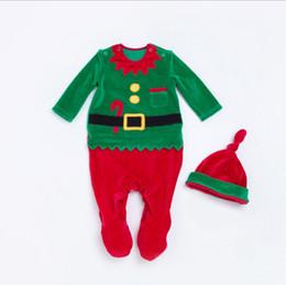 Wholesale Santa Baby Romper - Baby Clothing Set Boys Girls Santa Claus Modelling Set Baby Christmas Suits Christmas Costume Santa Baby Dress Santa Claus Romper