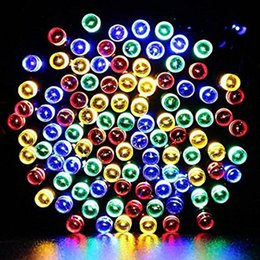 Wholesale Solar Powered Xmas Lights Outdoor - 12M 100 LED Solar Powered Fairy String Lights, Waterproof Christmas Lights for Homes, Christmas, Xmas, Wedding, Party, Indoor, Outdoor Decor