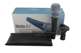 Wholesale Professional Vocal Microphone - Handheld 87A Precision Craffed Vocal Microphone Wired Professional Vocal Microphone With Retail Packing Box DHL Free