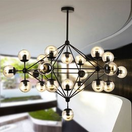 Wholesale Led Lamp Roll - Modo Chandelier 10 globes 15 globes 21 globes Modern Glass Chandeliers Jason Miller pendant lamp Droplight Living Room Dining Room roll hill