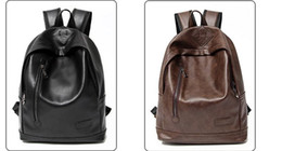 Wholesale Han Edition Leather Backpack - Han edition men's backpack male fashion tidal current middle school students' leisure sports backpack pu leather schoolbag female package
