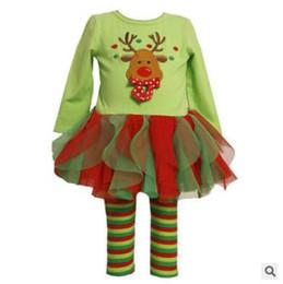 Wholesale Long Pajama Dress - Girls Christmas Pajamas Suit Kids Christmas Clothes Outfit Girl Christmas Pajama Sets Dress Kids point sets Girl Cotton clothes suits JL 001