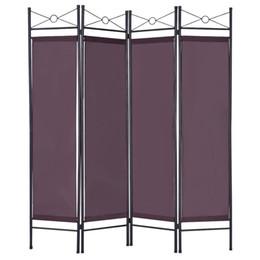 Тканевые панели онлайн-Рамка Металла Ткани Домашнего Офиса Экрана Уединения Рассекателя Комнаты 4 Панелей Складывая