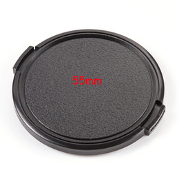 Wholesale Lens Filter 55 - 55mm Snap-on Front Filter Lens Cap Cover for Canon Nikon Olympus Sony Pentax 55
