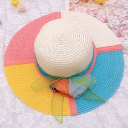 Wholesale Straw Sombreros - Fashion Lace Summer Sun Hats for Women New Fashion Sombrero Wide Brim Floppy Female Straw Hat