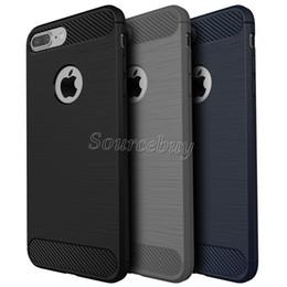 Canada Cas de fibre de carbone TPU pour Iphone 7 6 Plus cas d'armure hybride pour la texture Combo antichoc Galaxy S7 J7 P9LITE brossé couverture arrière Offre