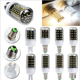 Wholesale E27 Led Corn Natural White - Super Bright E27 E14 G9 9W 15W 25W 30W 4014 SMD Cover Corn Spot Light Lamp Bulb Warm Natural White 220V Energy Saving