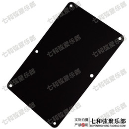 Wholesale Back Guitar Cover Black - Electric guitar back cover circuit line wiring backplane spring compartment plate black glossy surface