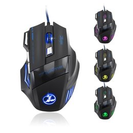 Wholesale Pc Mouse Gaming - Professional Gaming Mouse 7200 DPI 7 Buttons 7D LED Optical USB Wired Computer Mouse Mice Gamer Mouse for Laptop PC Top Quality