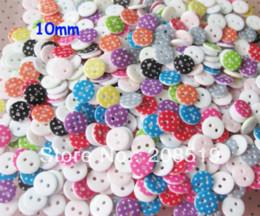 Wholesale Dot Craft Buttons - NB0197 craft buttons printed polka dot shirt button 300pcs 10mm round button garment accessory M62774 garment accessories