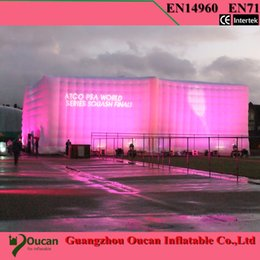 Canada Mur d'exposition gonflable en tissu oxford en gros-15x3x2.5m avec ventilateur à l'intérieur Offre