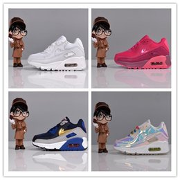 Wholesale Royal Babies - BABY size eur 26-35 High Quality Air Cushion 90 Running Shoes Air 90 Sport Shoes Trainers Sneakers Sports Baby, Kids Shoes