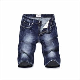 Wholesale Pockets Jeans Shorts For Summer - Summer style high quality original famous brand short men jeans Italy fashion designer ripped jeans for men denim shorts
