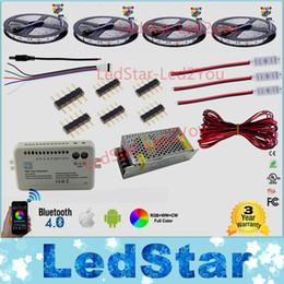 tira de 3528 led impermeable Rebajas 30m 20m Bluetooth llevó la tira RGB RGBW Dual color regulable 5050 3528 Impermeable + Mi controlador de luz + Amplificador + Adaptador de corriente