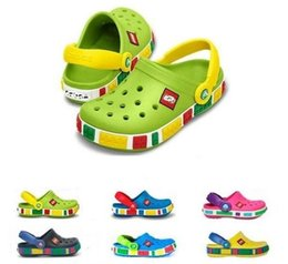Wholesale Kid Girl Sandals - Free shipping Rubber mules children summer kids shoes Beach outdoor shoes breathable Boys Girls Hole Shoes sandals slippers