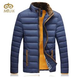 Wholesale men s clothing goose - Wholesale- 2016 Khaki Yellow Blue 3XL Plus Size Down Parkas Winter Hot Thick Stand Collar Fur Winter Jacket Men Brand Clothing