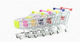Argentina 170pcs moda Mini supermercado carros de mano Mini carro de compras decoración de escritorio del sostenedor del teléfono del bebé del juguete nuevo Suministro