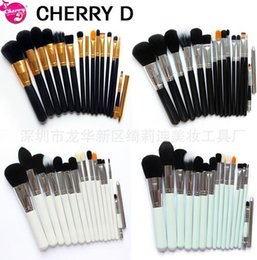 Wholesale Shop Kits - 15 pcs Makeup Brushes Set Powder Foundation Eyeshadow Eyeliner Lip Brush Tool Cosmetic Brush Shop Free shipping