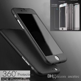 Wholesale Glasses Card - 360 Case For Samsung Note 8 S8 For iPhone X 8 7 7 plus 6 6S 5 5S+Tempepred glass Full Body Cover For S7 S6 edge