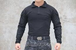 Camicia di combattimento di Paintball dell'esercito BDU all'ingrosso-libero tattico con i rilievi di gomito neri da