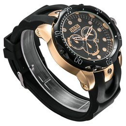 Wholesale Silicone Watch Boxed - 2016 Relogio Men Wristwatch Luxury Brand Watch Sports Wrist Watches Mens Quartz Wristwatches Silicone belt Calendar Clock with Box Gifts hot