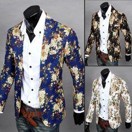 Wholesale High Fashion Suits For Men - Men's Blazers Fashion blazer for men suit autumn and winter high-quality men's velor Married suit plus blazer slim man outwear jacket M-XXL