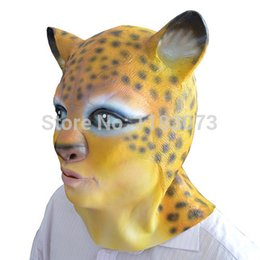 Wholesale Leopard Halloween Mask - latex Leopard Head Mask Sexy Masks for Women in Party Vivid Shape Original Design High Quality 10pcs lot Free Shipping