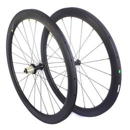 Wholesale Carbon Road Wheels Straight Pull - 700c road bike carbon wheels clincher wheels 50mm depth 23mm or 25mm width 3K or ud powerway R36 straight pull hub road bike wheels