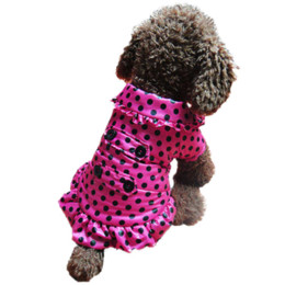 Wholesale Dotted Ladies Skirts - Free shipping New 2015 hot pet dog clothes dress winter cute Dot Ladies Princess lace skirt small dog coats and jackets retail