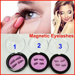 Wholesale Soft Magnets - 4PCS=1pair False Eyelashes Magnetic Lashes eye makeupTouch Soft Wear With No gule magnet eyelashes Perfect for everyday makeup free shipping