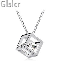 Wholesale import jewelry - Wholesale-top selling Free Shipping Hot sales high quality import Crystal float zircon cubic Pendant Necklace chain fashion jewelry 84538