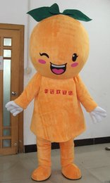 Wholesale Smiling Mascot - SX0725 Light and easy to wear adult orange mascot costume with a smile for adult to wear