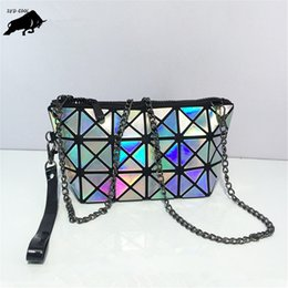 Wholesale Small Skull Rhinestones - New 2017 Women Fashion Laser Bao Bao Bag Geometry Package Folding Bags Crossbody Bag Women Famous Brand Messenger Bags