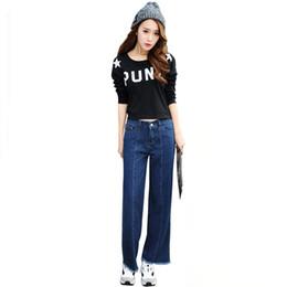 Wholesale Jeans Loose Legs For Women - 2016 Spring New Women Jeans Plus Size Fashion Jeans Woman Denim Wide Leg Pants Casual Boyfriend jeans For Girls