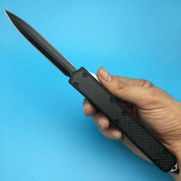 Micro Makora II 106-4 D2 haute vitesse CNC Black 61HRC pointe de lance en aluminium noir en fibre de carbone Tactical couteaux de plein air ? partir de fabricateur