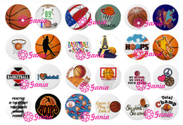 Wholesale Wholesale Button Earrings - Interchangeable18mm Cabochon Glass Stone Buttons Sport Gift Basketball Button for Snap Jewelry Bracelet Necklace Ring Earring