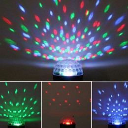 Wholesale Voice Activated Remote Control - Hot laser stage light Auto Voice-activated Control LED Crystal Magic Ball Disco DJ Party Stage Light Lighting with remote controland USB