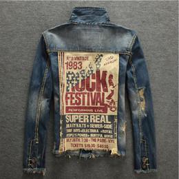 Wholesale Man Jeans Jacket New - 2018 Spring Autumn Mens Jackets New Brand Slim Fit Vintage Denim Patch Designs Jeans Jacket Men Nostalgic blue Coats Plus Size