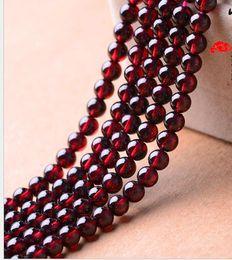 2019 esferas de cristal chandelier 3A 4A 5A 6A Granos Granate Redondo Pure Natural Crystal Semi-acabados Pulseras de Cuentas accesorios de la joyería DIY