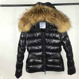 Wholesale Real Raccoon Fur Collar Black - 2018 Hot Sale Women Jacket Winter Coat Thickening Female Clothes Real Raccoon Fur Collar Hood Down Jacket