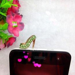 Wholesale Anti Dust Plug Shoes - 2016 300pcs shoes dustproof plug Style Cute Protect Phone stiletto Earphone Dustproof Plug creative anti-dust phone plug