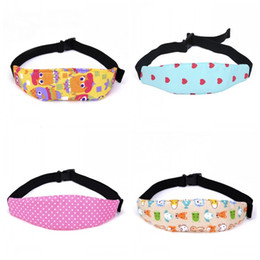 Wholesale baby support - Infant Head Belts Adjustable Car Safety Seat Sleep Positioner Baby Heads Support Pram Stroller Fastening Belt Many Styles 3 2nl C R