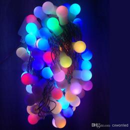 5M 50LEDs rgb globes string US EU 110V 220V Mini Ball Luce globale Rosso blu giallo greem WW bianco Impermeabile matrimonio festa di natale cheap blue light globe da globo blu chiaro fornitori