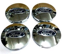 ford chrom-logo Rabatt Hohe qualität 4 teile / los 66 MM AUTO RAD Nabenmitte LOGO Caps ABS emblem abzeichen Passt für FORD EDGE Explorer