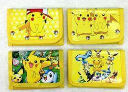 Wholesale Pokemon Coins - Poke Wallets purse children Poke Coin Purses Pikachu wallet card Holder Poke Go Cartoon students wallets
