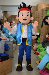 Wholesale Neverland Costumes - Jake and the Neverland Pirates Costume Jake Mascot Party Clothing Adult Size Cartoon Clothes Free Shipping