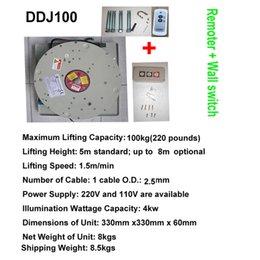 Wholesale Lighting Hoist System - 100KG 7M Drop Wall Switch+Remote Control Chandelier Hoist Lighting Lifter Electric Winch Light Lifting System 110V-120V,220-240V